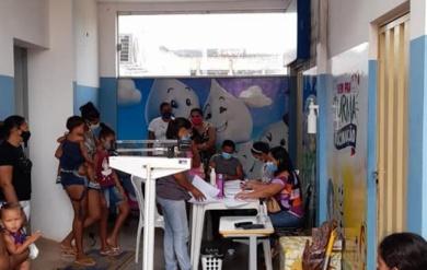 SMS realiza pesagem dos beneficiários do Bolsa Família.